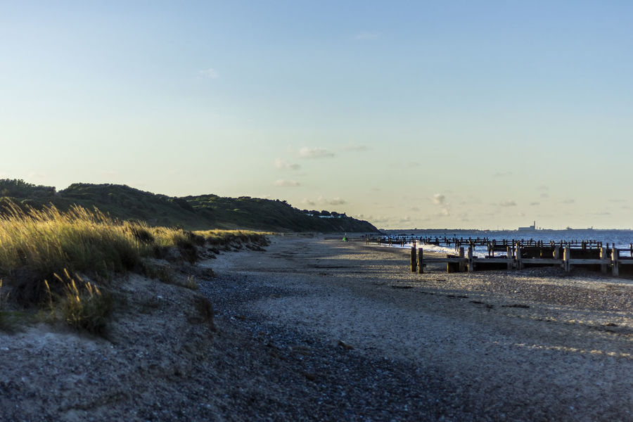 Britain Beach Beachphotography Beauty In Nature Clear Sky Copy Space Day Grass Land Landscape Nature No People Outdoors Plant Sand Scenics - Nature Sea Sky Tranquil Scene Tranquility Water The Great Outdoors - 2018 EyeEm Awards