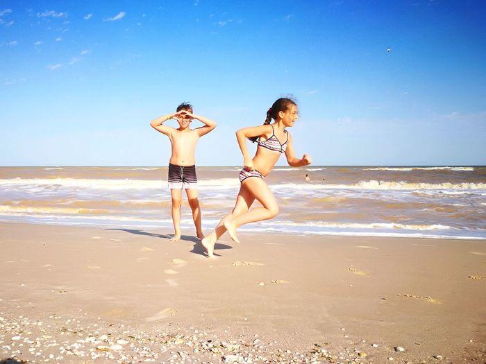 Beach Sea Vacations Summer Ukraine 💙💛 Azov Sea Kids, Beach, Fun Seascape Sea Storm Sky