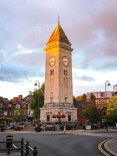 Sunset Clock Tower Architecture Cloud - Sky Tower Sky Built Structure Building Exterior Clock Travel Destinations Day City Outdoors Time Cityscape Clock Face No People