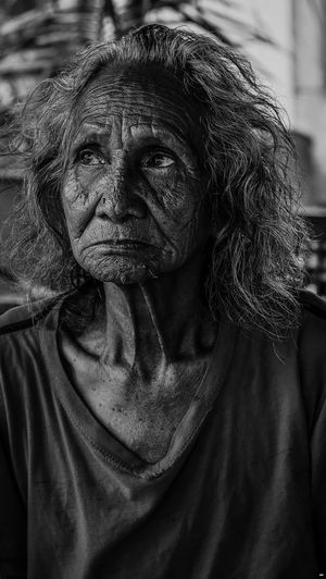 Senior Woman Looking Away