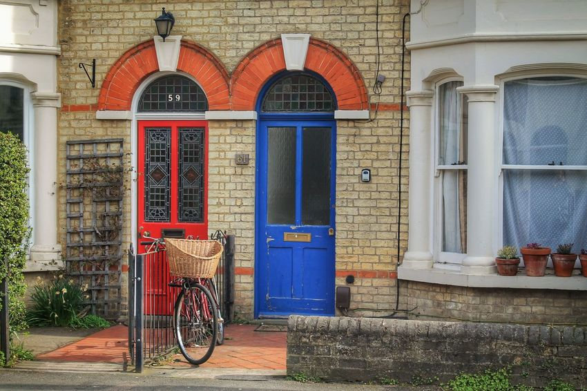 Architecture Bicycle Brick Brick Wall Building Exterior Built Structure Day Door England Entrance Façade Front Doors Live London Neighborhood Neighbors No People Outdoors Red Residential District Town Transportation Uk Window