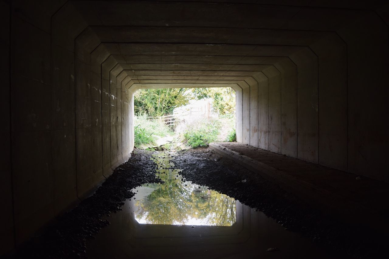 water, tunnel, day, bridge - man made structure, no people, built structure, nature, architecture, below, indoors, under