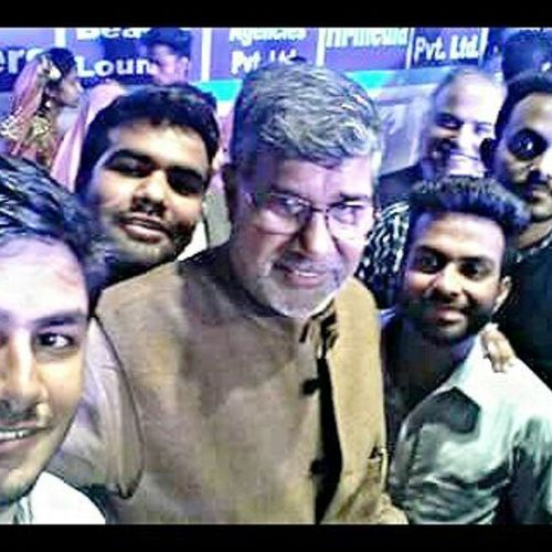 With Mr. Kailsh_Satyarthi ( Nobel_prize Winner). Very nice person with very boring speech LOL