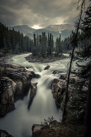 Beauty In Nature Blurred Motion Cloud - Sky Day Forest Idyllic Long Exposure Motion Mountain Nature No People Non-urban Scene Outdoors River Scenics Sky Tranquil Scene Tranquility Travel Destinations Tree Water Waterfall