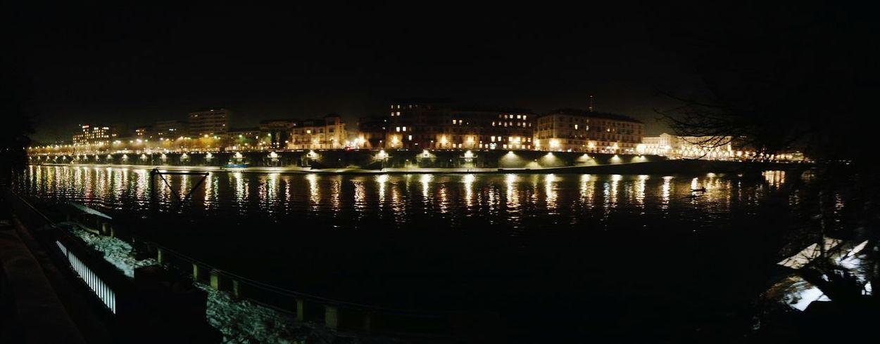 Murazzi by night River Illumination Reflections Cityscape City Turin Torino Night Reflection Outdoors Illuminated Travel Destinations Sky Water City