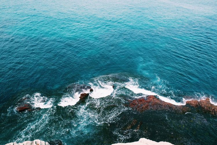 Beauty In Nature Day High Angle View Motion Nature No People Outdoors Sea Water Wave Lost In The Landscape
