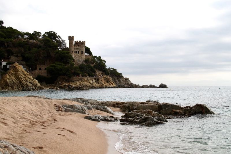 Architecture Beach Beauty In Nature Building Exterior Castle Cliff Horizon Over Water Lloret De Mar Lloret De Mar Beach Lloretdemar Nature No People Rock - Object Rock Formation Scenery Scenics Sea SPAIN Tranquility Water Been There.
