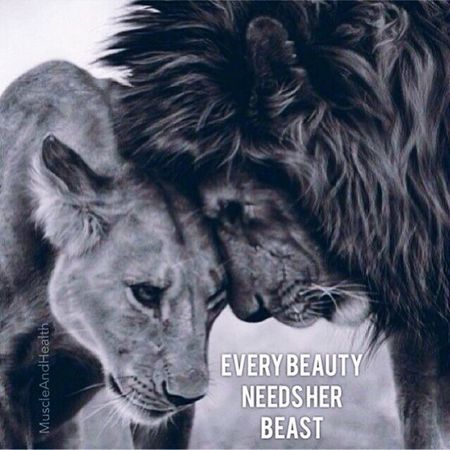 Every beauty needs her beast sometimes. Love ♥ Supportive Considerate Trust