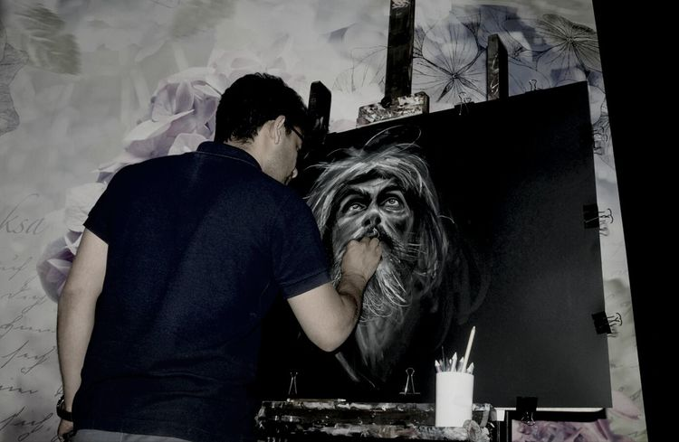 m.zare zadeh/workshop painting Chalk Pastel Art  Art, Drawing, Creativity Charcoaldrawing Portrait Drawing