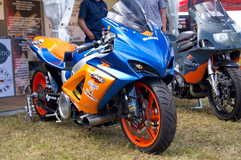 Blue Motorcycle Outdoors Racemachine Transportation Wings & Wheels