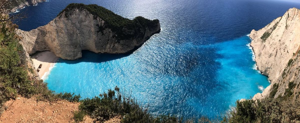 Shipwreck Shipwreck Bay Shipwreck Beach Water Nature Blue Tranquility Beauty In Nature Plant Tree High Angle View Turquoise Colored First Eyeem Photo