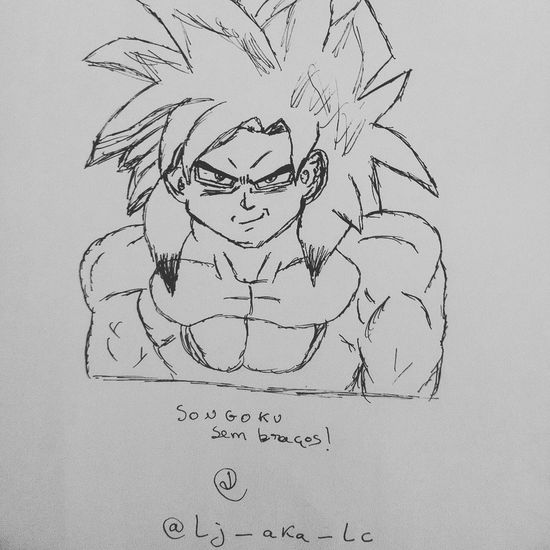 Abstract Art Close-up Creativity Design Designing Detail Dragonball Draw Drawing Drawings Full Frame Ideas Songoku Supersaiyan White Background