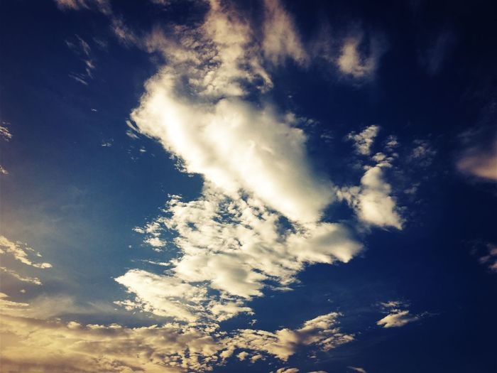 Cloud - Sky Sky Beauty In Nature Low Angle View Tranquility Tranquil Scene Scenics - Nature Nature Blue Sunlight No People Day