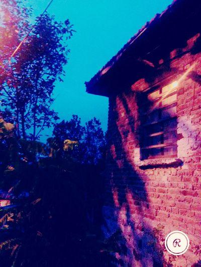 Bu şehrin Sokaklarını Sen Varsan Seviyorum Tree Architecture Built Structure Building Exterior House Blue Clear Sky Red Sky Dark Outdoors Taken On Mobile Device Growth Nature High Section No People Exterior Tranquility