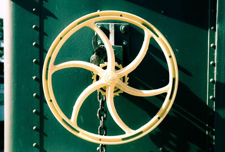 Close Up Of Wheel On Train