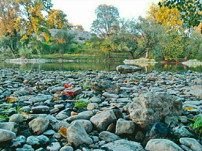 River Nature Landscape Green Enjoying Nature Rocks #sunset #sun #clouds #skylovers #sky #nature #beautifulinnature #naturalbeauty #photography #landscape Shootermag Banja Luka Vrbas