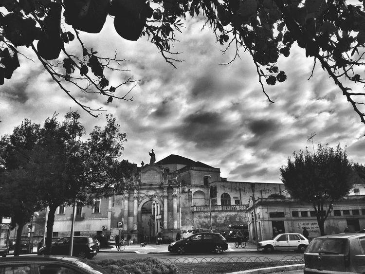 Italy Lecce Lecce City Blackandwhite Black And White Italia