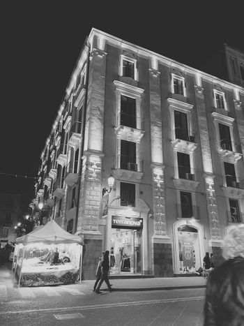 Thegraphiccity Contrast Light And Shadow Lights Decoration Sicily City Afternoon Blackandwhite House Built Structure Architecture UNESCO World Heritage Site Catania Art Night Architecture Built Structure Building Exterior People Adults Only Illuminated