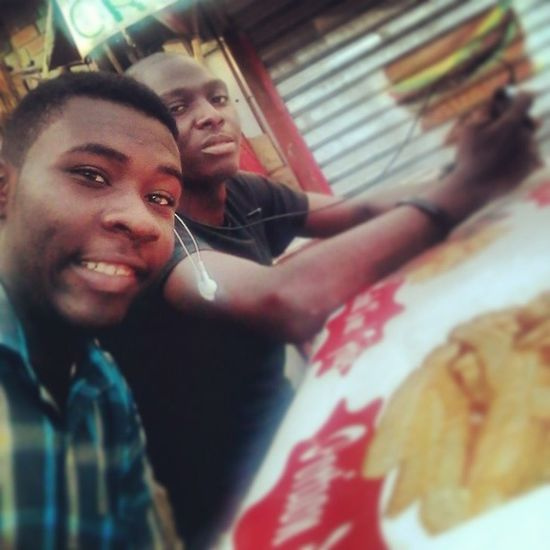 Claude and I! Crusties Bonapriso Douala