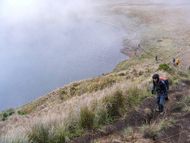 Kabut Jalur ke Danau Ranukumbolo Gunungsemeru Jawatimur 2009. Kameraprosumer Fujifilm Adventure Natgeo Hiker Lake Savannah Fog Nature Mountains INDONESIA Indomountain