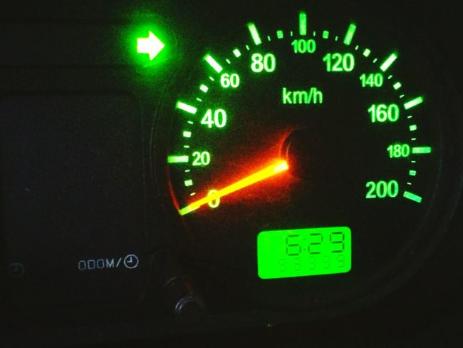 km Car Km Green Color No People Close-up Technology Control Panel Speedometer Black Background Indoors  Gauge