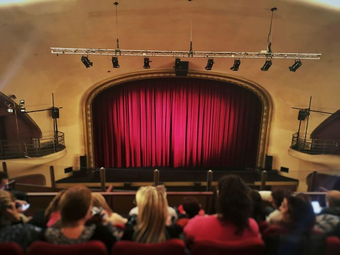 Waiting at teathre Auditorium Performance Audience Crowd Performing Arts Event Classical Music Music Stage - Performance Space Arts Culture And Entertainment Opéra Musical Theater  Stage Theater Stage Set Movie Theater Baroque Style Stage Stage Light
