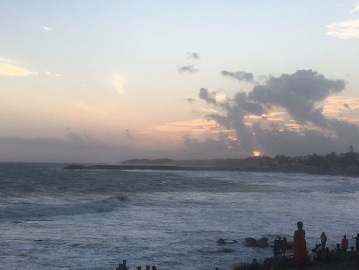 It is a sunset picture at southern tip of India where three seas confluences. Sunset