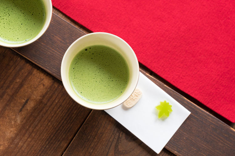 Green Color Japan Japan Photography Japanese Culture Japanese Style Close-up Coffee Cup Drink Food Food And Drink Freshness Green Color Green Tea Greentea Healthy Eating High Angle View Indoors  Matcha Tea No People Plate Ready-to-eat Refreshment Studio Shot Table Tea - Hot Drink Tea Ceremony