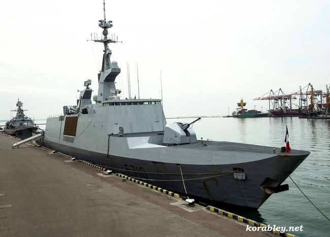 The stealth frigate La Fayette