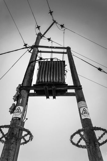Electric Post Pylon Blackandwhite Danger Electricity  Electricity Pylon Power Supply Wires