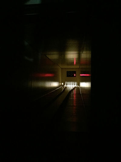 Blurred Motion Built Structure Ceiling Dark Diminishing Perspective Direction Empty Illuminated Indoors  Kegelbahn Kegeln Light Lighting Equipment Motion Night No People Sign The Way Forward Transportation Tunnel
