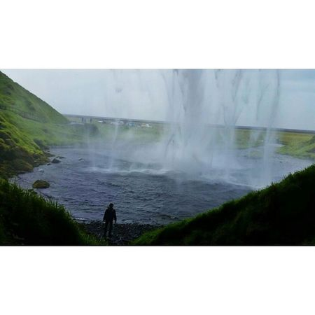 Oh yeah, I stood behind a waterfall. Nbd. Iceland Beautifuliceland Travelphotography
