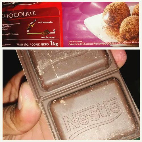 Uma pequena barrinha de chocolate pra fechar a noite. Ostentação Delicia Gordice Amoamargo