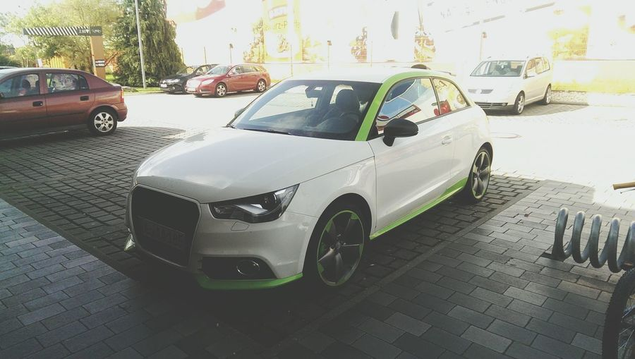 Audi S1 Tuning Cars Taking Photos On Street