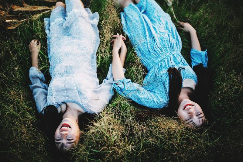 Lying Down Grass Leisure Activity Women Togetherness Females Plant