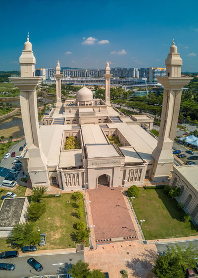 High angle view of a mosque