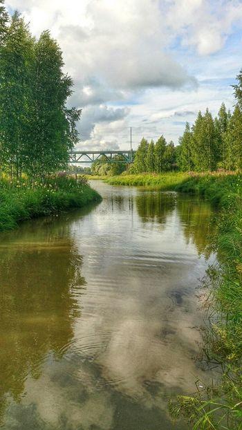 Riverscape River Collection Bridgesaroundtheworld Bridge Over Water Bridges Beauty In Nature Bridge View Midsummer In Finland Bridge River View Summer2016 Paimio Finland