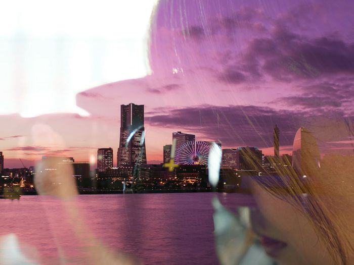 ワタシイロ たじゅーろこー 多重露光 We_are_buddy_Tm's_photo Dobleexposure Yokohama, Japan Dusk Sky The Portraitist - 2016 EyeEm Awards