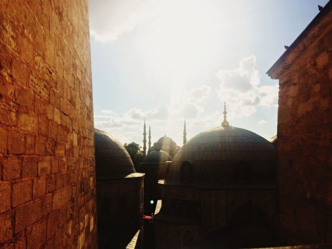 Dome Architecture Built Structure Religion Building Exterior Sunlight Place Of Worship Spirituality No People Sky Day Outdoors Travel Destinations Cloud - Sky City Architecture Ottoman Empire Ottoman Style Ottomans Ottoman Architecture Ottomanpalace