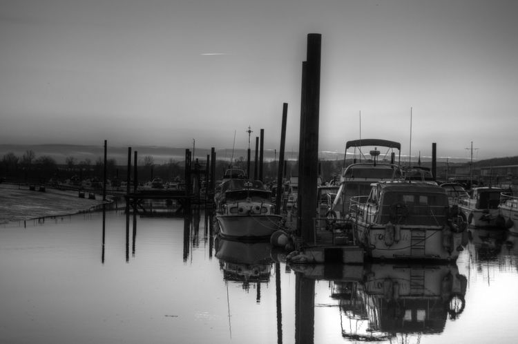 calmer still Black & White sunset_collection Reflections Mirror Boat