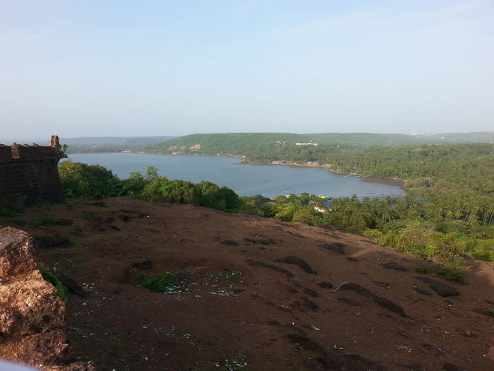 Bardez Beauty In Nature Chaporafort Chaporariver Clear Sky Day Goa Grass India Landscape Nature No People Outdoors Scenics Sea Sky Tranquil Scene Tranquility Tree Water