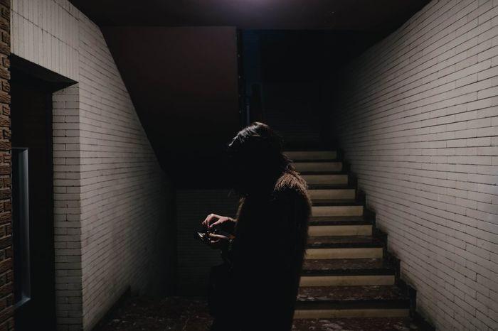 The Portraitist - 2016 EyeEm Awards Dark Shadow Vscocam VSCO Woman Portrait Urban HUAWEI Photo Award: After Dark