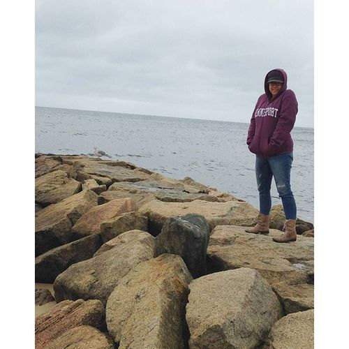 @krbpeeps took this pic of me trying to pet the seagull. Obviously. Capetober15