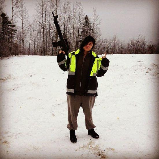 StraightThuggin Thug Gangsta LOL 22 notanAK47 me winter2012 ftmac ftmcmurray gun