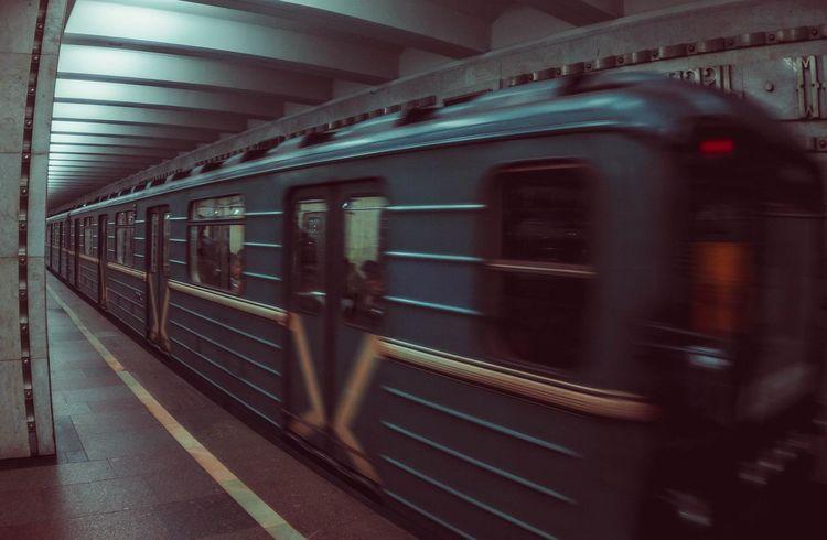 Subway Train Russia Moscow Moscowmetro Underground метро