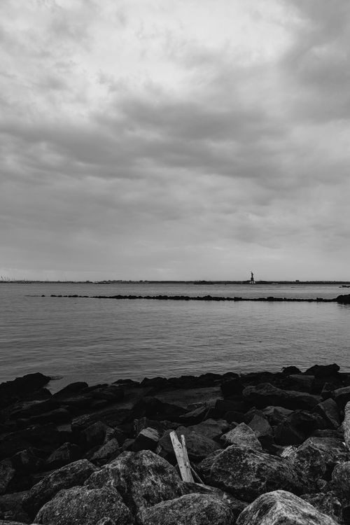 Statue of Liberty Beautiful Beauty In Nature Brooklyn Cloud Cloud - Sky Clouds Light Light And Shadow New York Rain Rainy Days Rock Rocks Sky Sky And Clouds Storm Storm Cloud Sunset View Water Statue Of Liberty Blackandwhite Monochrome Black And White Black & White