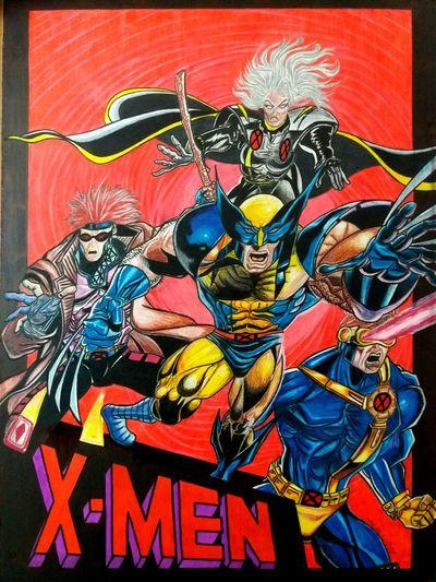 Meu desenho 16 anos atrás. Desenho Marvel Marvelcomics X-men Lapisdecor