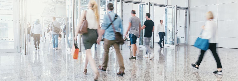 People walking at airport