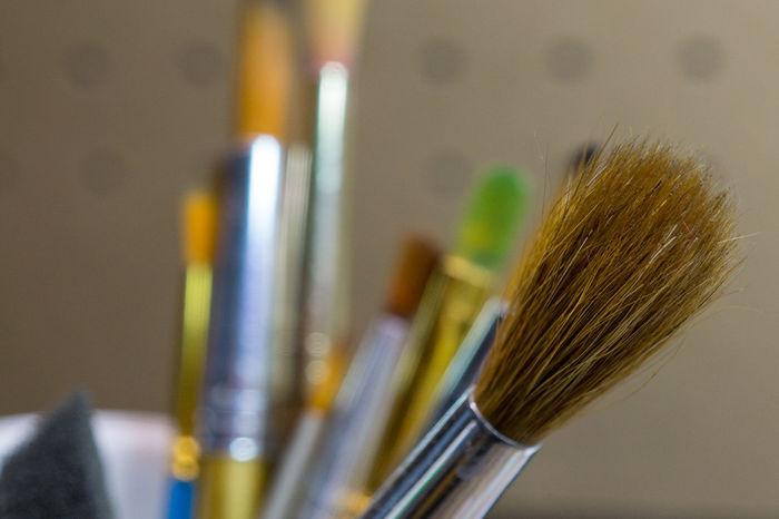 Close Up of paint brushes. StillLifePhotography Close-up Day Indoors  Macro Make-up Brush Museum No People Paintbrush Palette Still Life