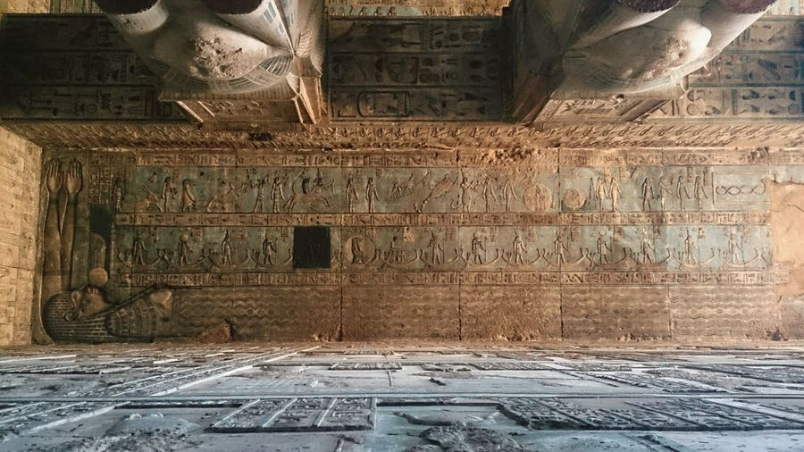 Знаки зодиака на потолке храма Хатхор в Дендерах. египет арт  Egypt Art